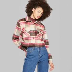 NWT Wild Fable Brown Plaid Jacket